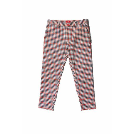 Latte Haris Trousers | Red/Creme