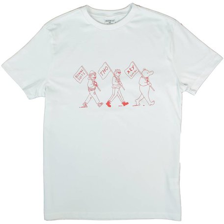 Zeedijk 60 Tee |  White/Red