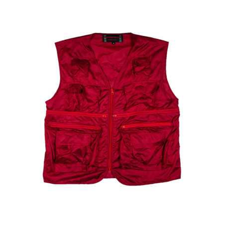 Secluded 22 Pocket  Nylon Fishers Vest | Red