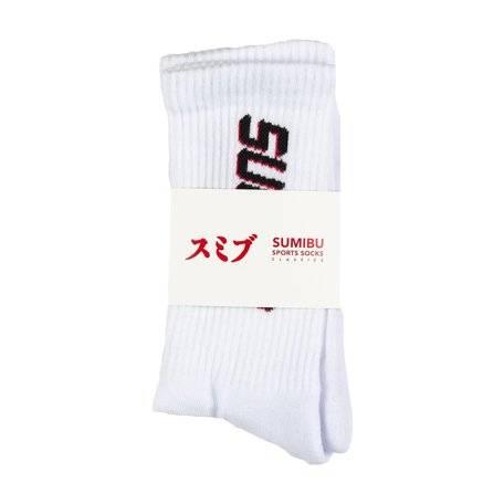 Double Dash Socks White