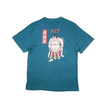 SUMIBU x De Japanner Tee | Teal Blue