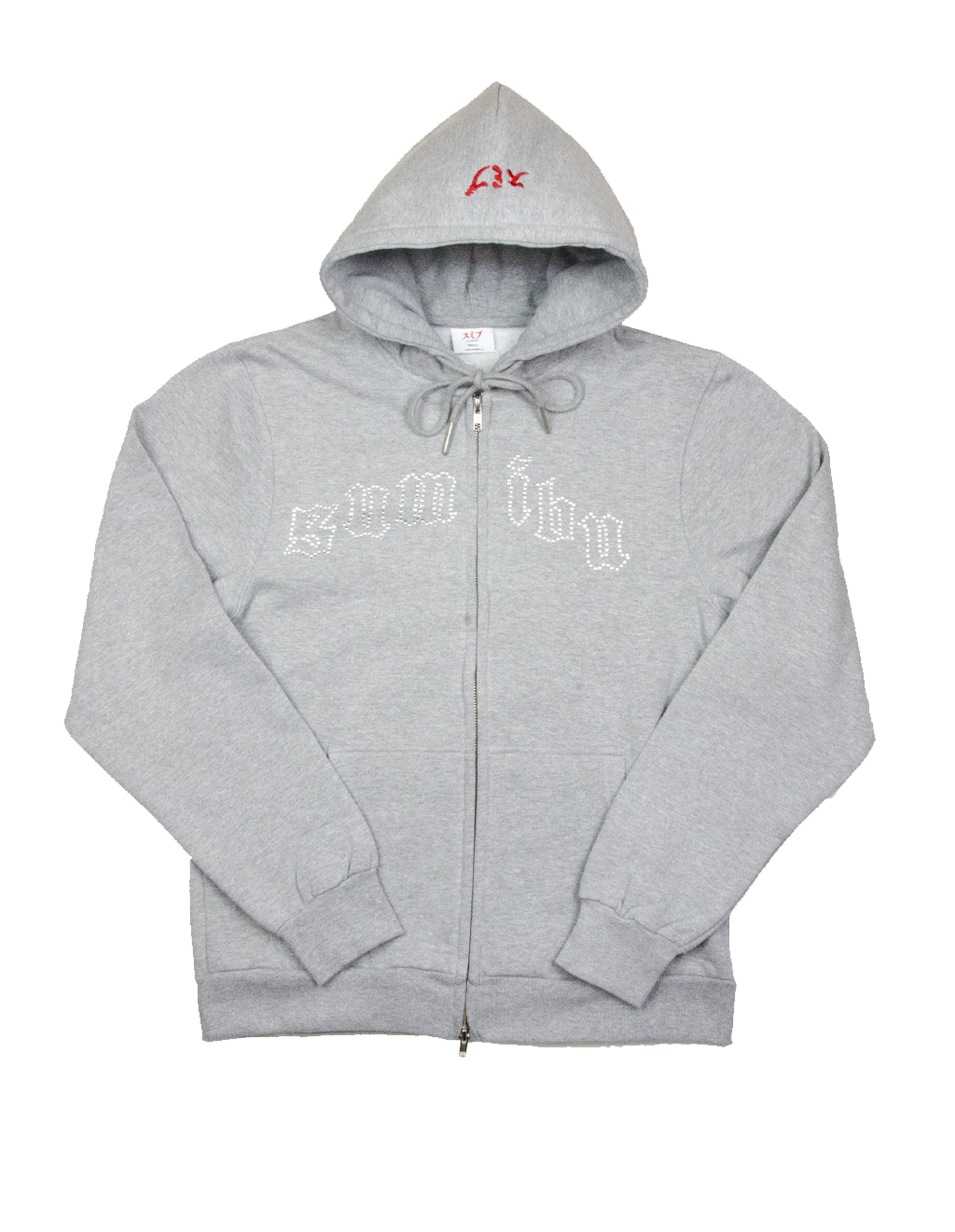 SUMIBU Grey-Melange On Froze Zip Hoodie
