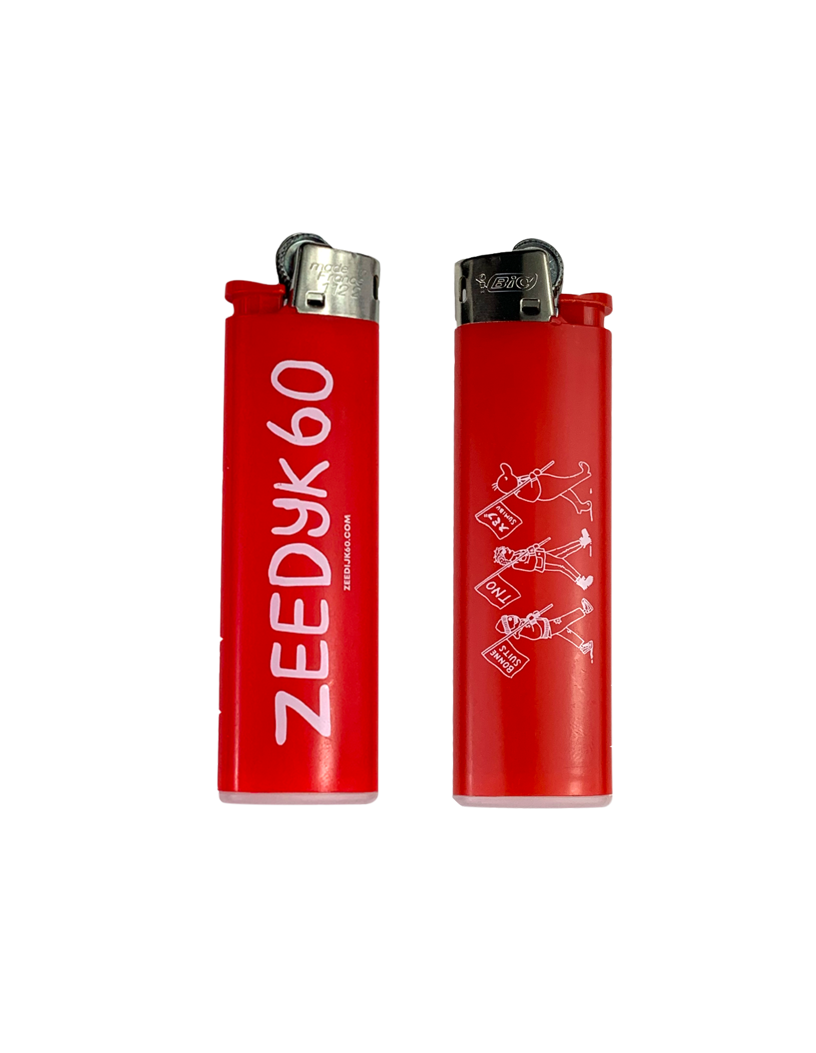 ZEEDIJK 60 Red Zeedijk 60 Logo's Lighter