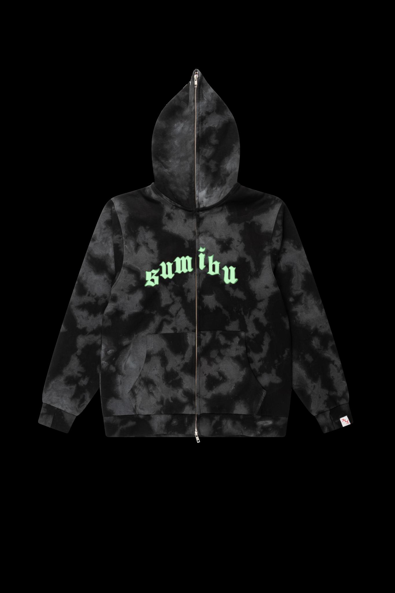 SUMIBU Ghost Wash Full-Zip Hoodie