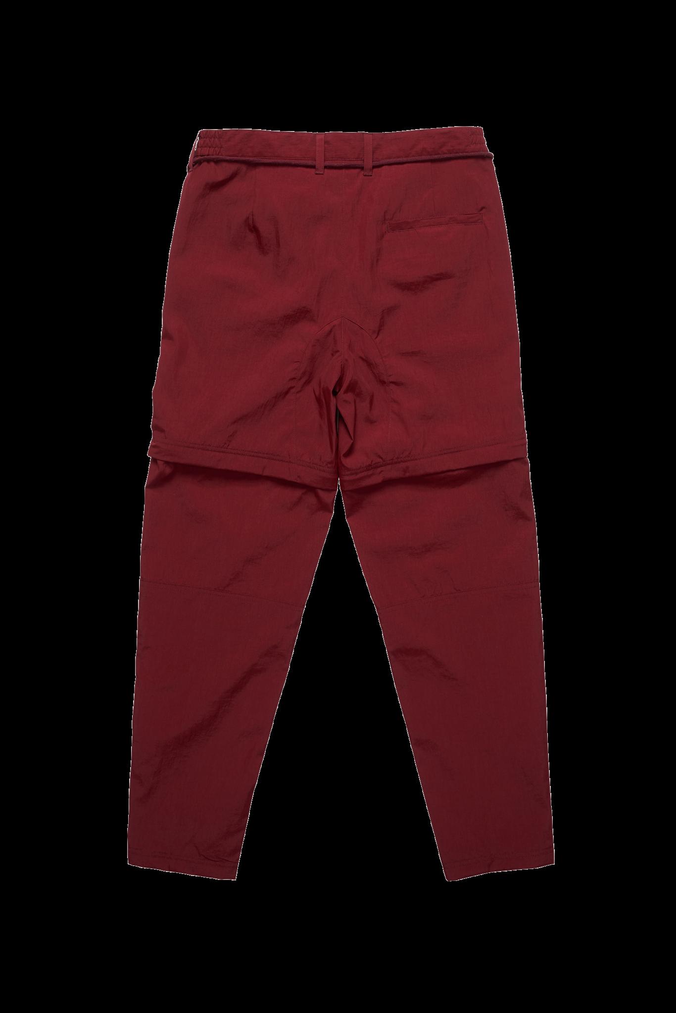 The New Originals Parachute Nylon Trousers | Burgundy