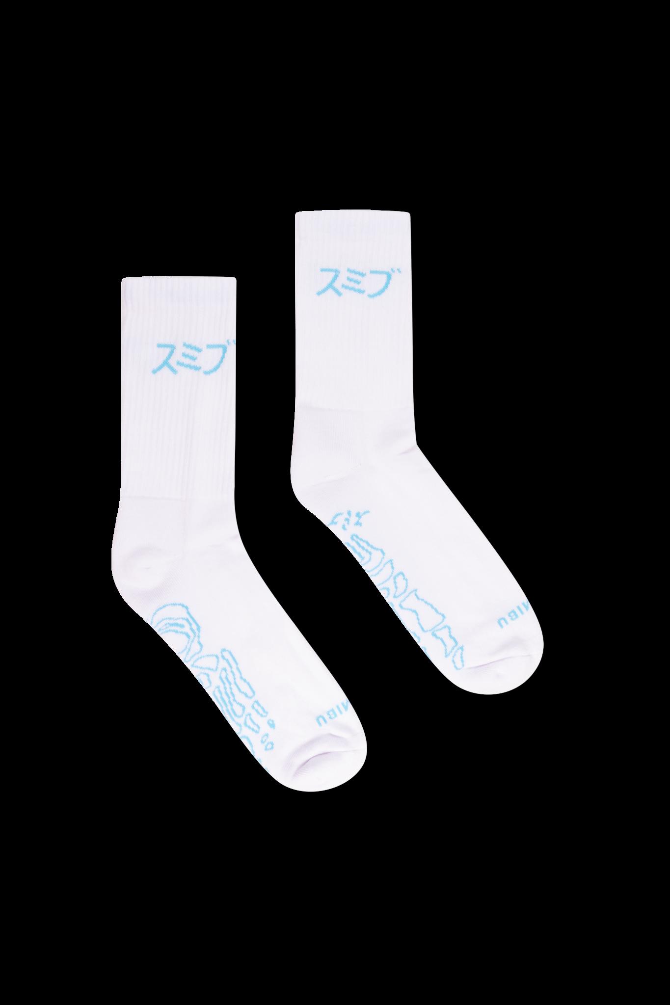 SUMIBU Skeleton Socks | White/Blue