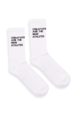 The New Originals Creatives are the new athletes socks | White