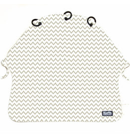 Kurtis Kurtis Light Pram Curtain Zig-Zag Grey