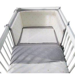 Childhome Childhome Bedbeschermer - 35x170 Cm - Jersey - Gold Dots