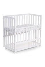 Childhome Childhome Bedkant Wieg + Wielen - 50x90 Cm - Hout - Wit