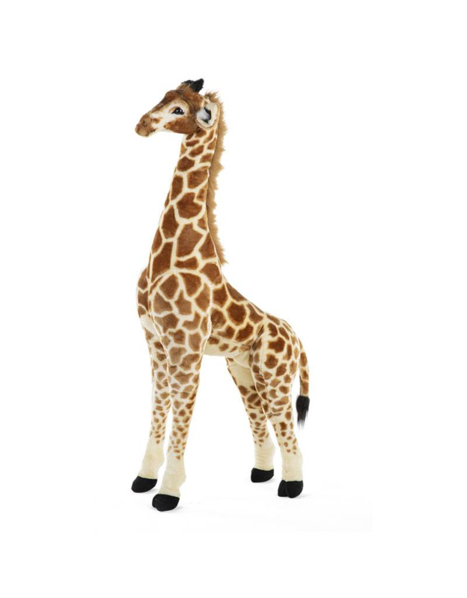 Childhome Childhome Staande Giraf Knuffel - 50x40x135 Cm - Bruin Geel