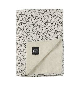Mies & Co Mies & Co Baby Soft Teddy Blanket - Cosy Dots Offwhite 70x100