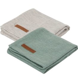 Little Dutch Little Dutch Swaddle 70x70 Pure Mint / Grey