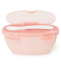 SkipHop Skip Hop Easy-Serve travel bowl & spoon : grey/soft coral