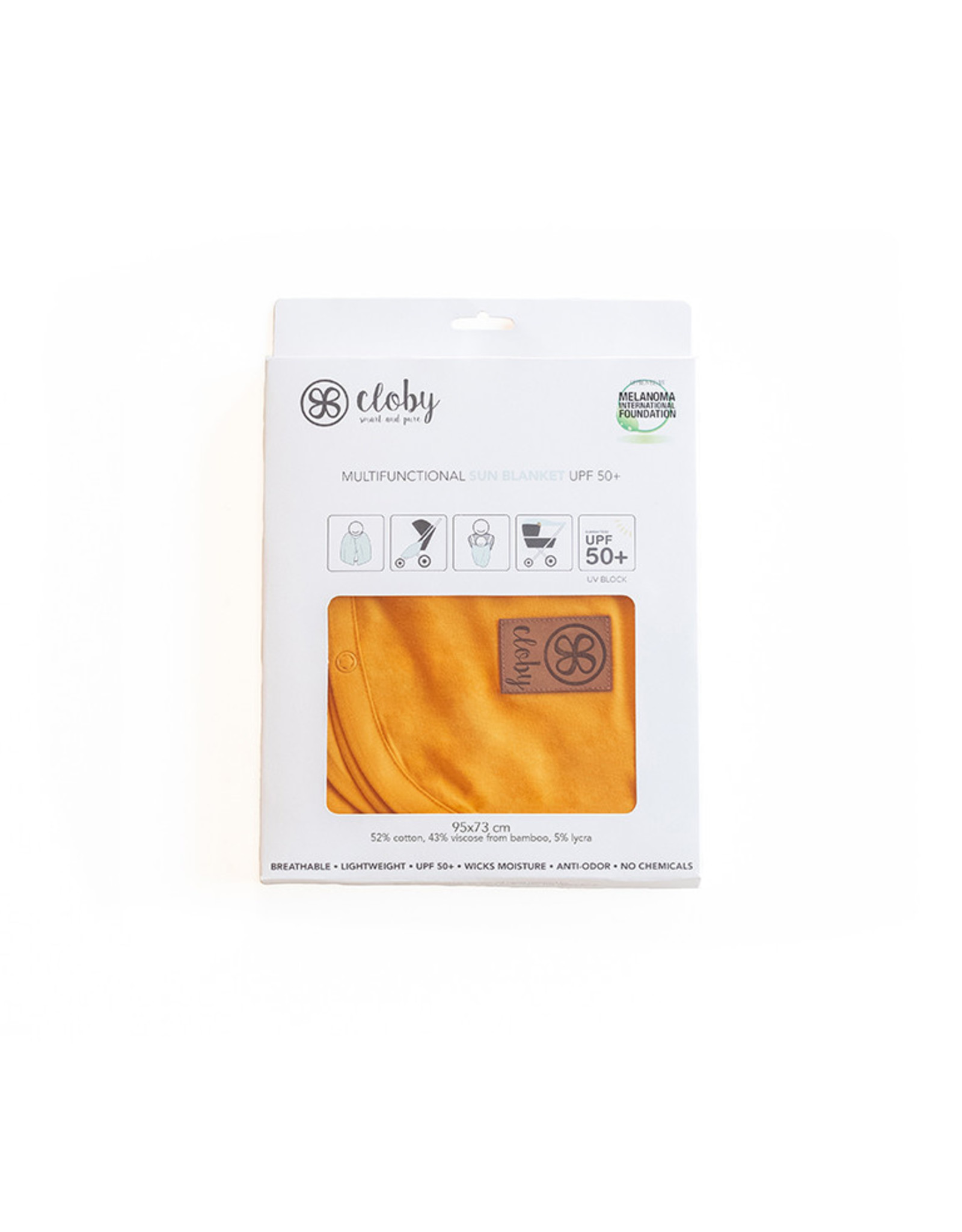 cloby Cloby UV-doek UPF50 Mango Geel