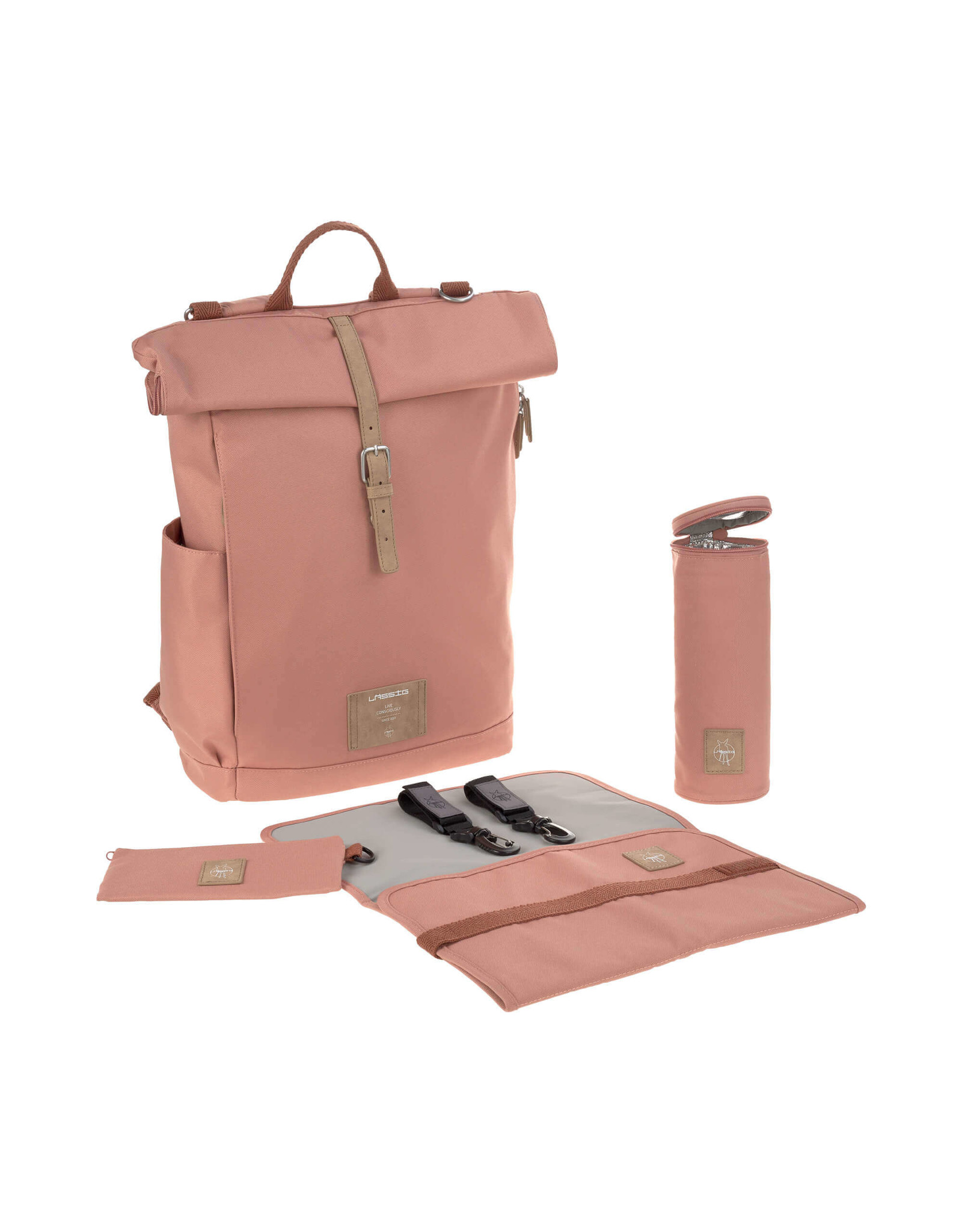 Lassig Lassig Greenlabel Rolltop Backpack Cinnamon