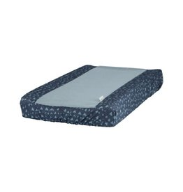 Heart of Gold Heart of Gold CHANGING MAT COVER VITAL HEARTS DENIM OTHERSIDE FOAM