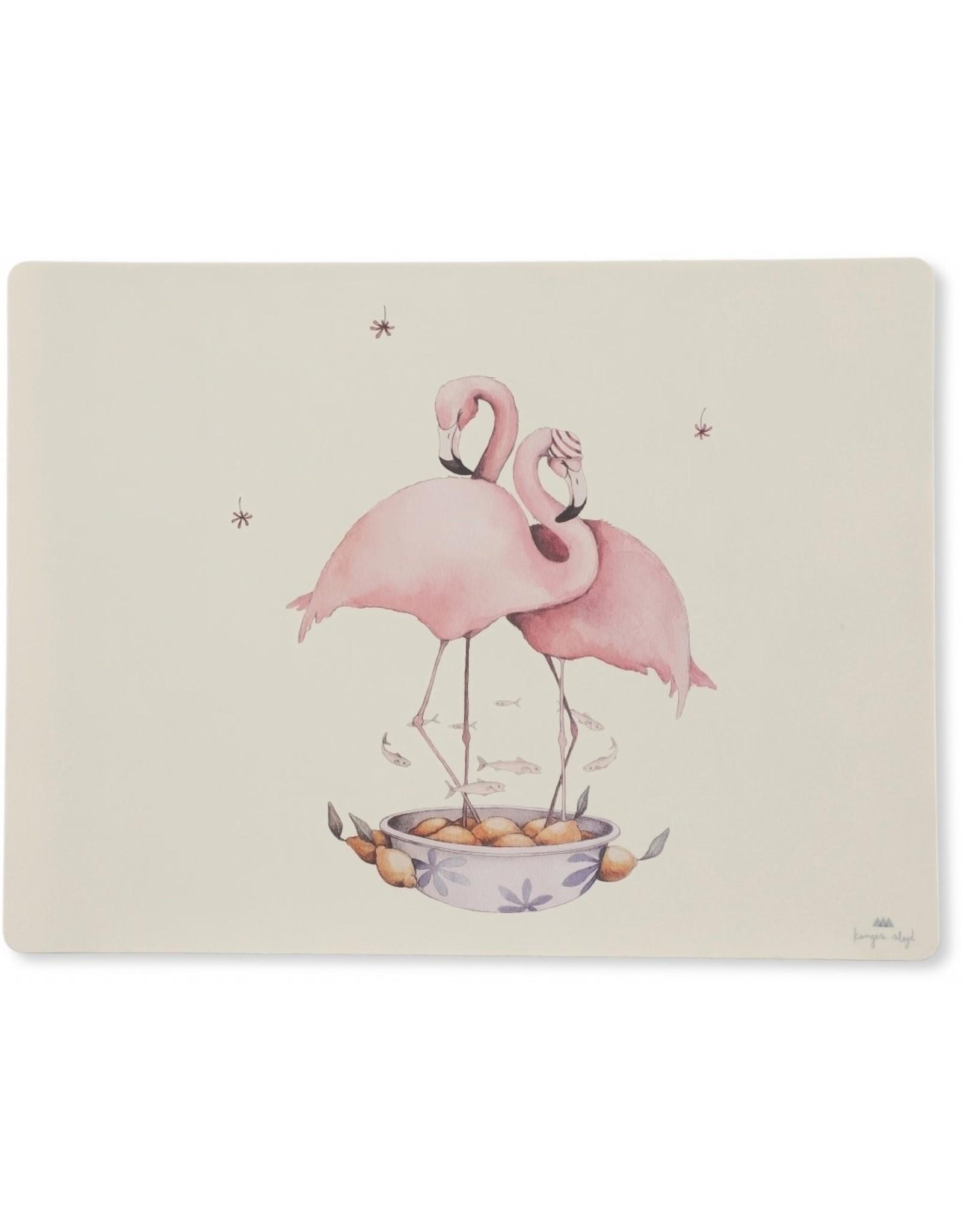 Konges Slojd Konges Slojd Placemat Silicone Nature/Flamingo