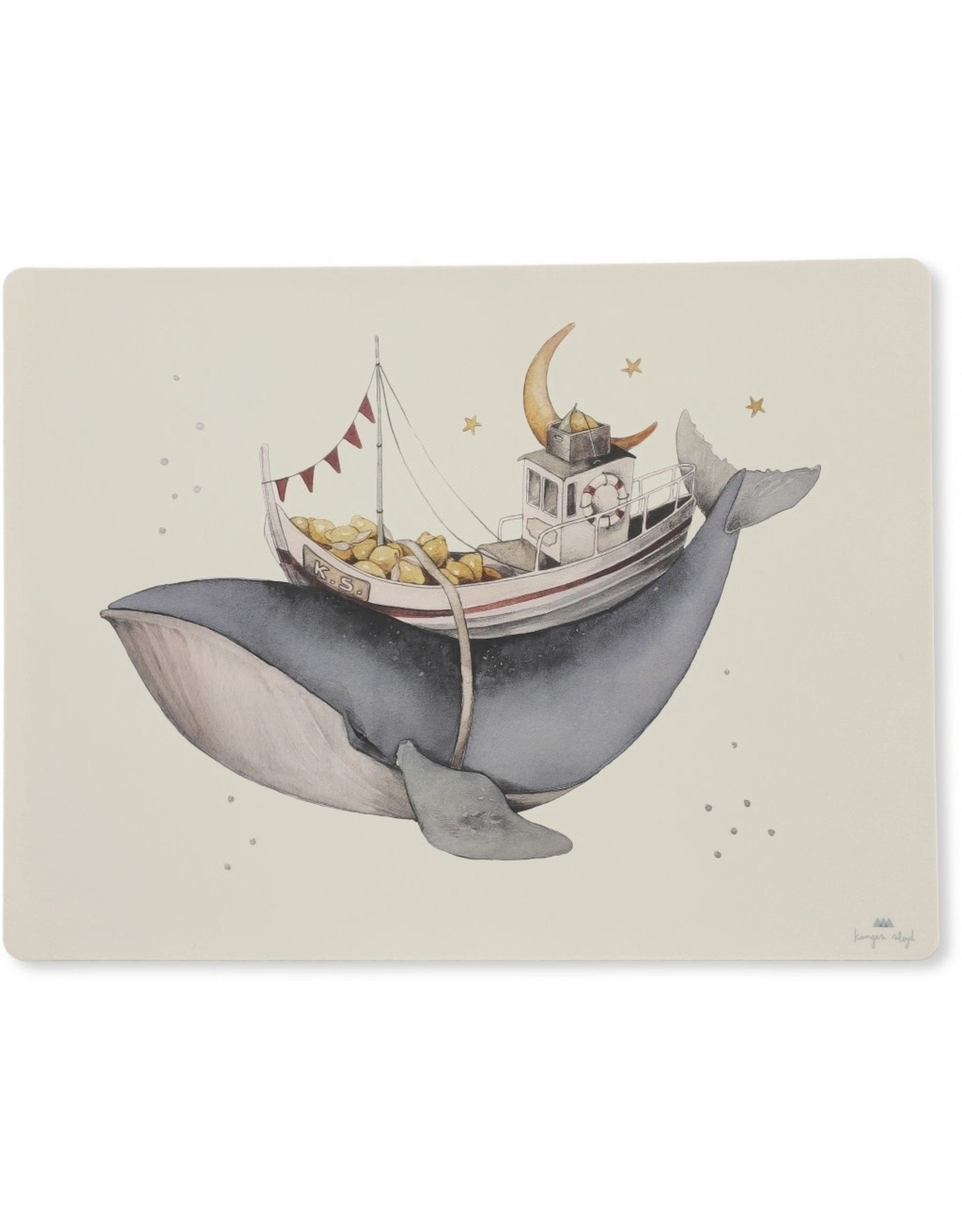 Konges Slojd Konges Slojd Placemat Silicone Nature/Whale