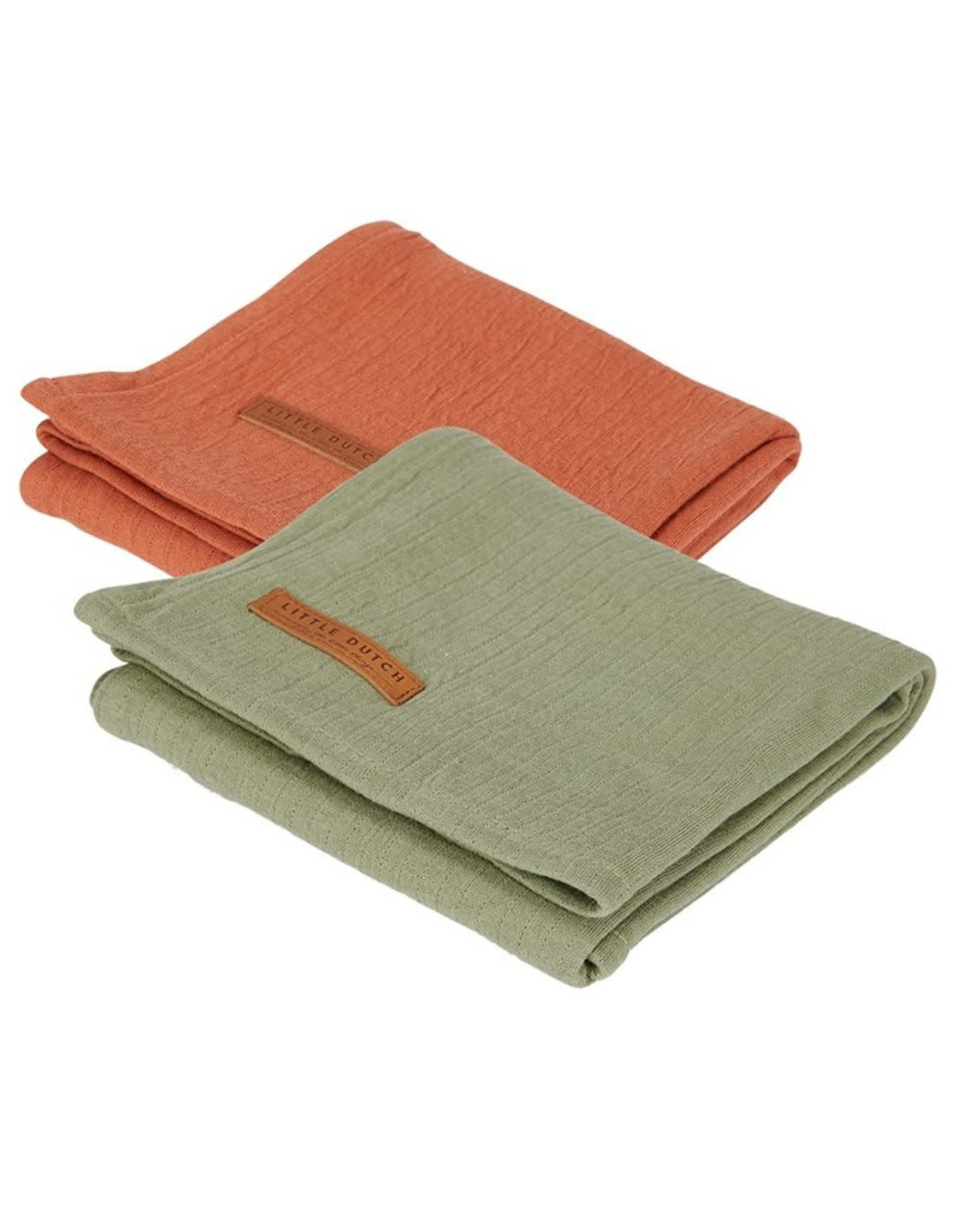 Little Dutch Little Dutch Swaddle 70x70 Pure Olive / Rust