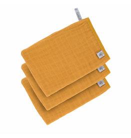 Lassig Lassig Washandjes Tetra set 3 Mustard