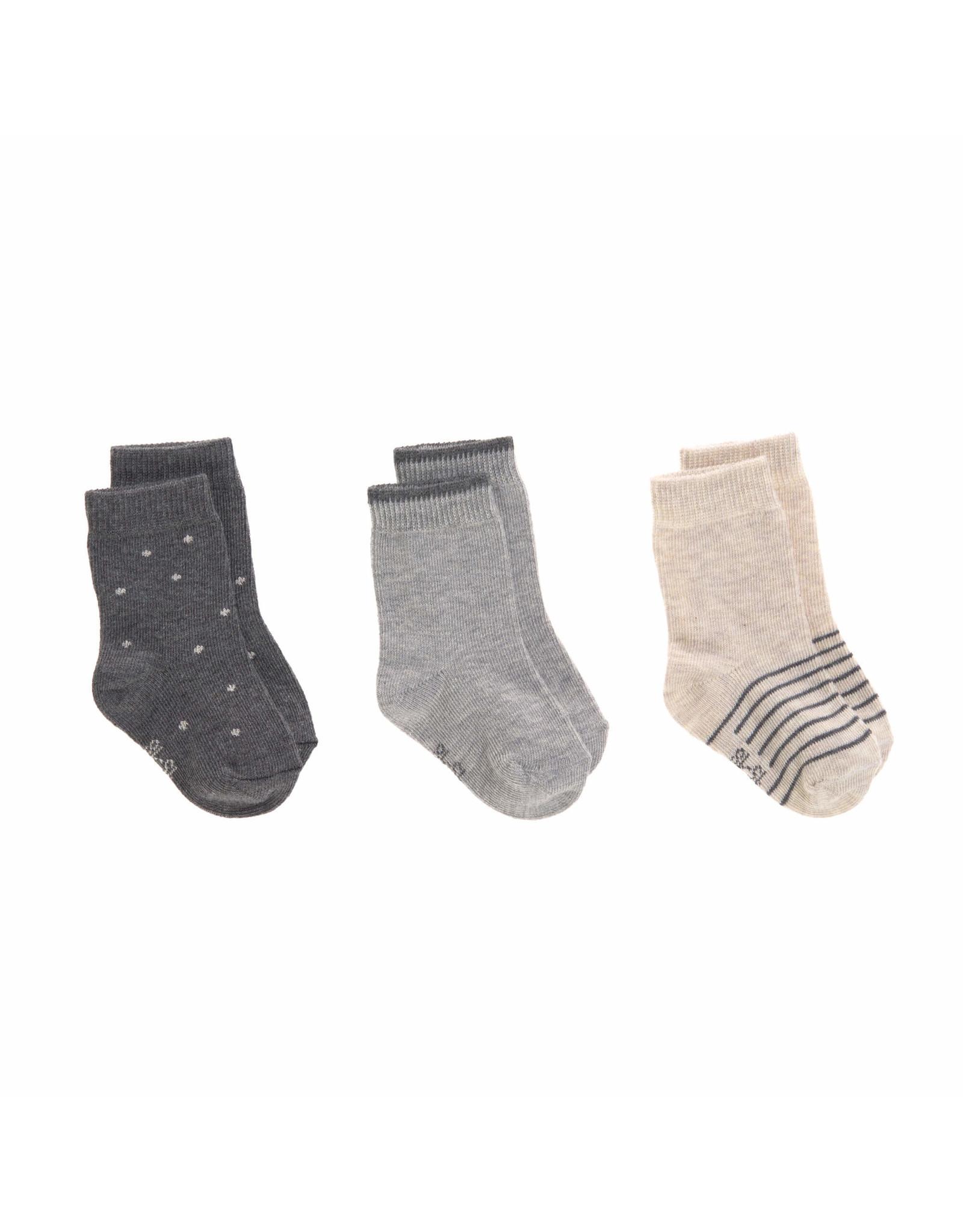 Lassig Lassig Socks 3pcs Grey