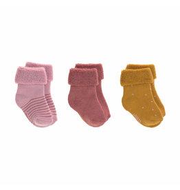Lassig Lassig Newborn Socks 3pcs Rosewood
