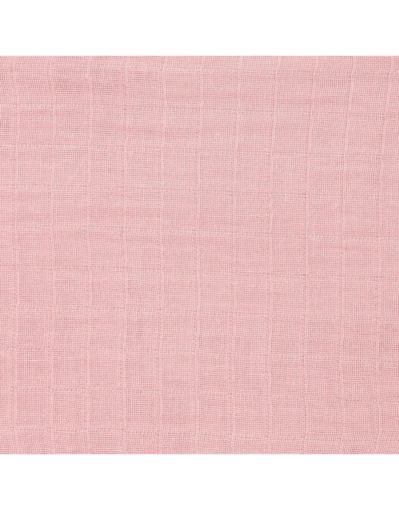 Lassig Lassig Swaddle & Burp Blancket L 3pcs 85x85 Rose/Rosewood/Mustard