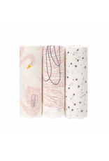 Lassig Lassig Soft Swaddle L (80x80) Little Water Swan