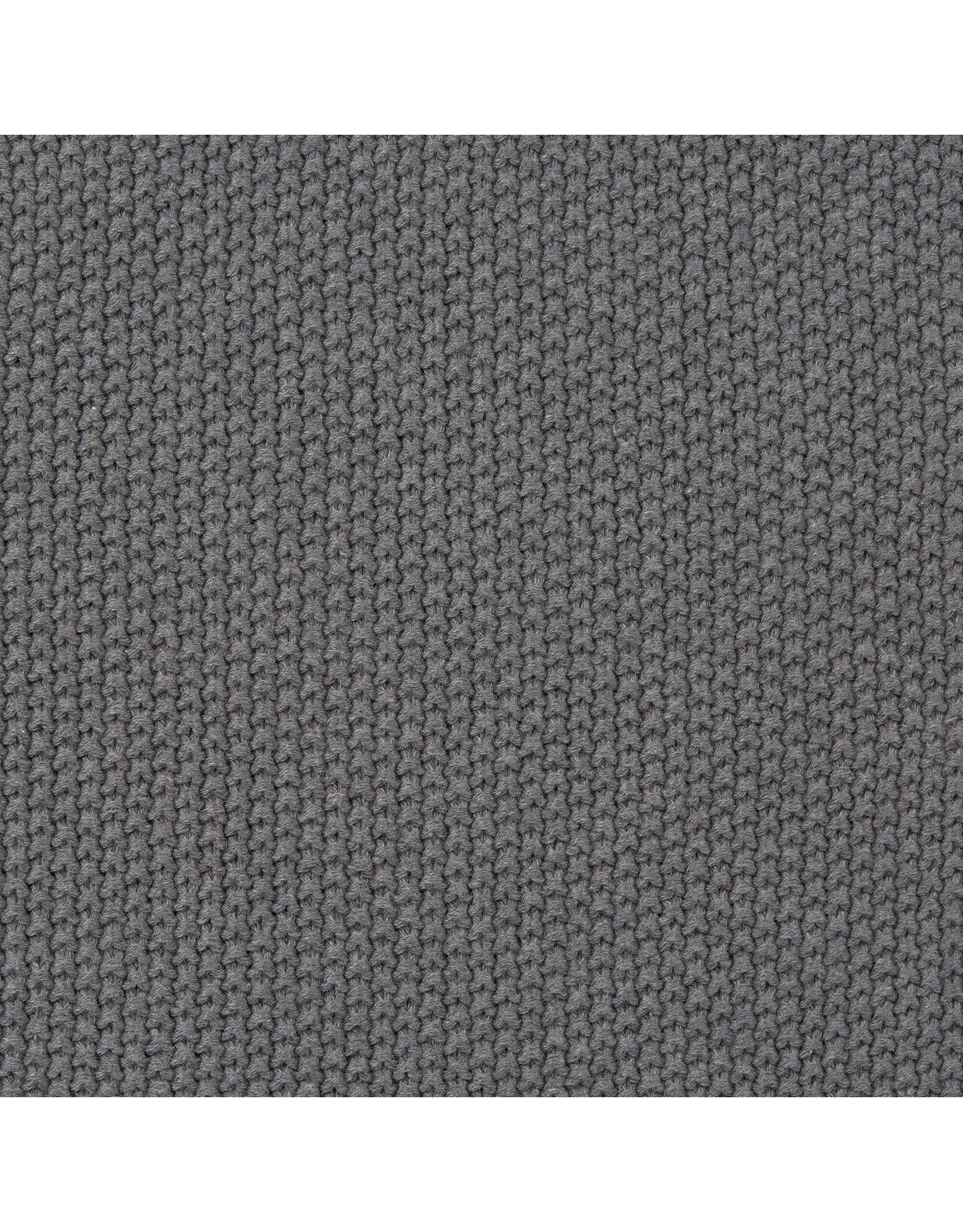 Lassig Lassig Knitted Blanket For Baby Seat Anthracite 85x85cm