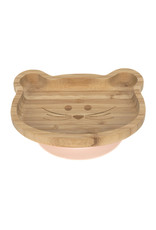 Lassig Lassig Platter Bamboo - Wood Little Chums Mouse