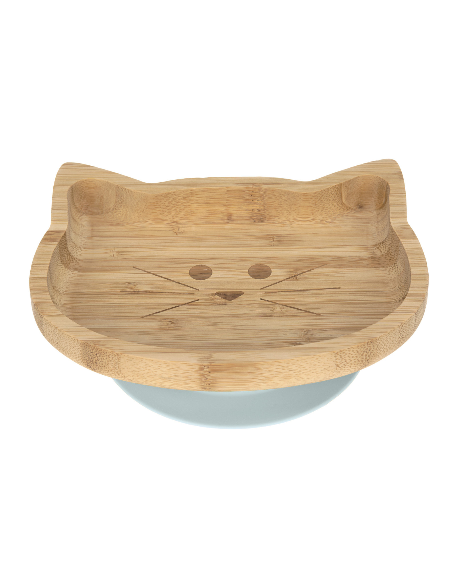 Lassig Lassig Platter Bamboo - Wood Little Chums Cat