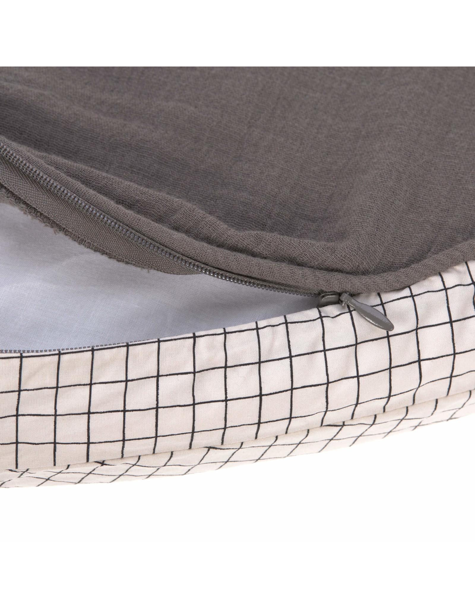 Lassig Lassig Seat Cushion Muslin ø 100 cm Anthracite