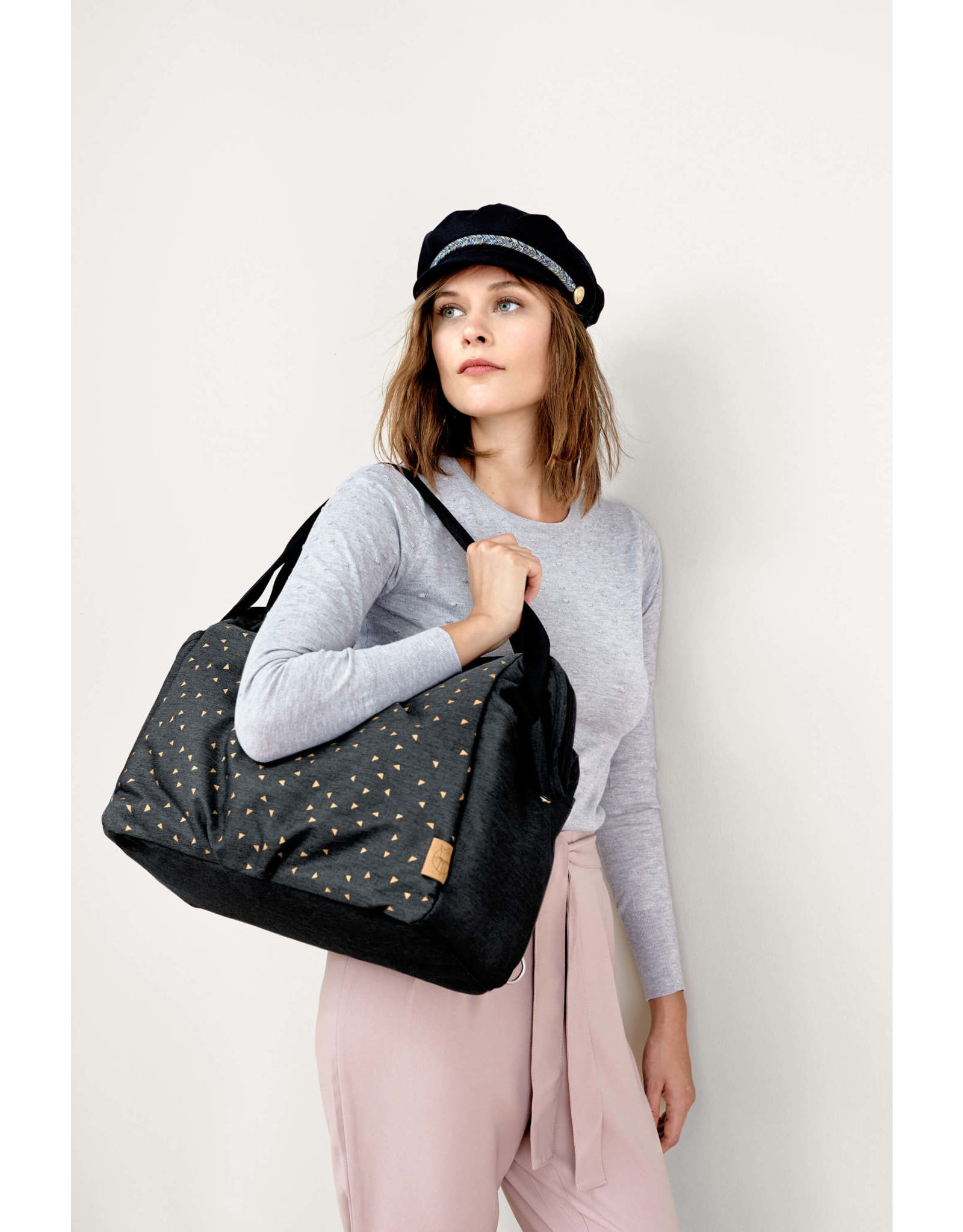 Lassig Lassig Casual Twin Bag Triangle dark grey