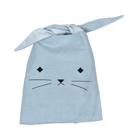 fabeLab Fabelab Organic Cotton Lunchbag – Cat Foggy Blue