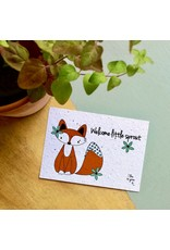Bloom Bloom Card Flowers Fox Welcome Little Sprout