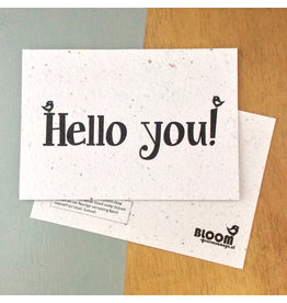 Bloom Bloom Card Fowers Hello You