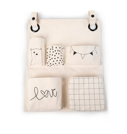 Childhome Childhome Organiser - 60x50x5 Cm - Canvas - Designs