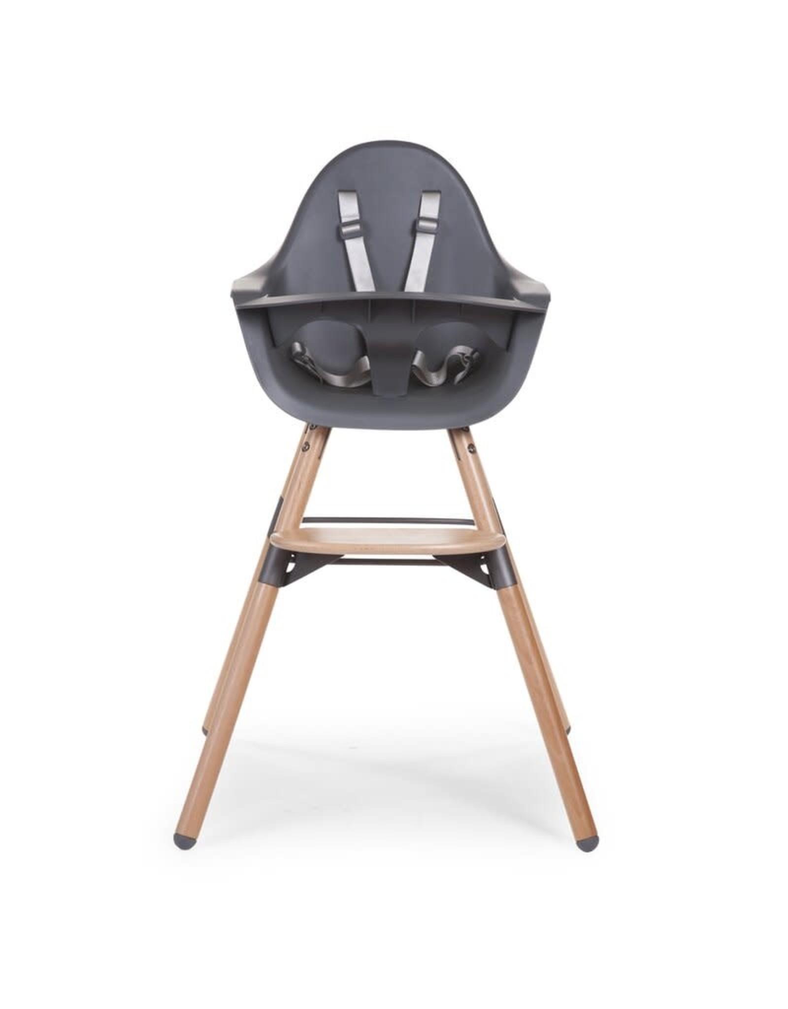 Childhome Childhome Evolu 2 Kinderstoel - Verstelbaar In Hoogte (50-75 Cm/*90 Cm) - Naturel Antraciet