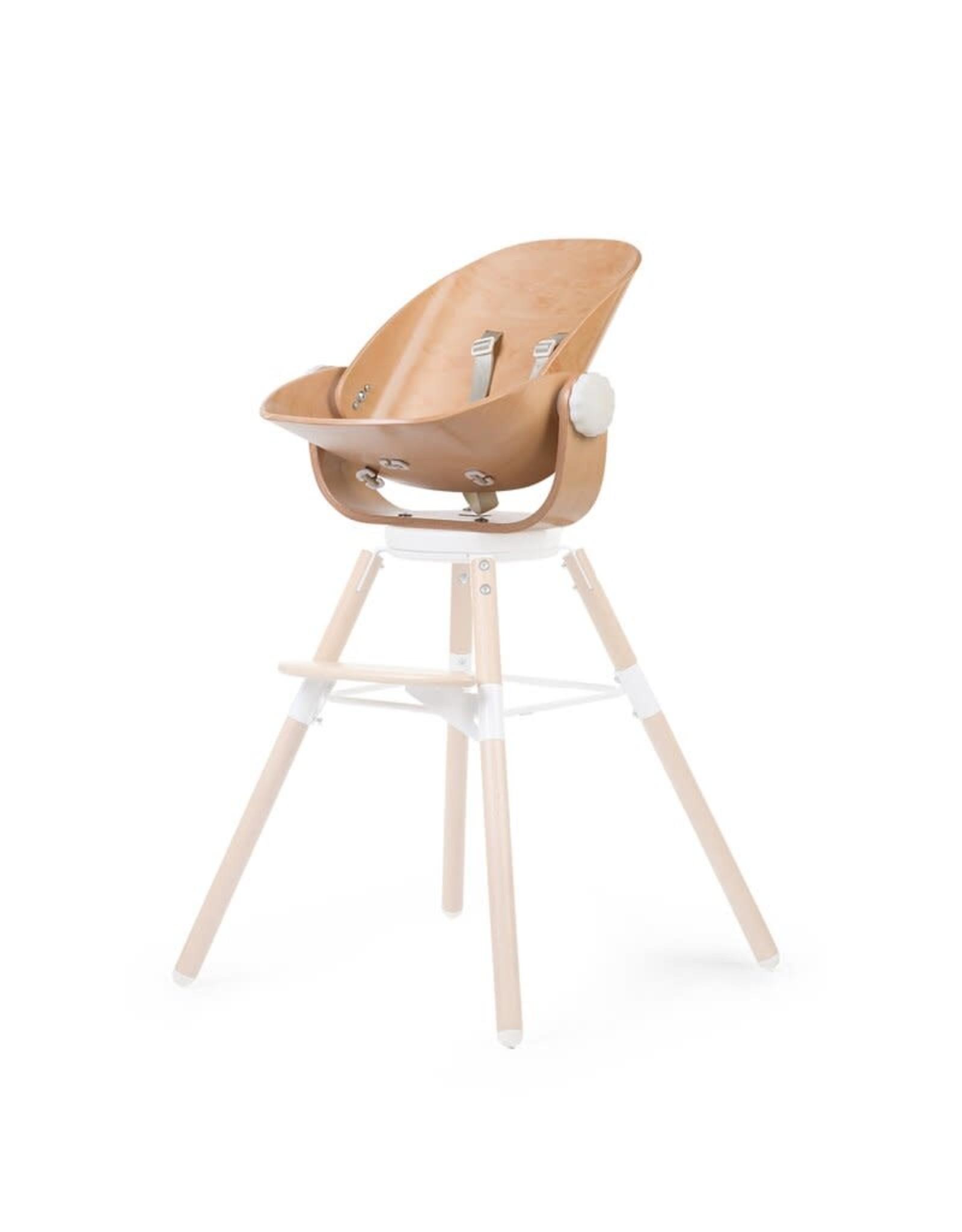 Childhome Childhome Evolu Newborn Seat Voor Evolu 2 + One.80° - Hout - Naturel Wit