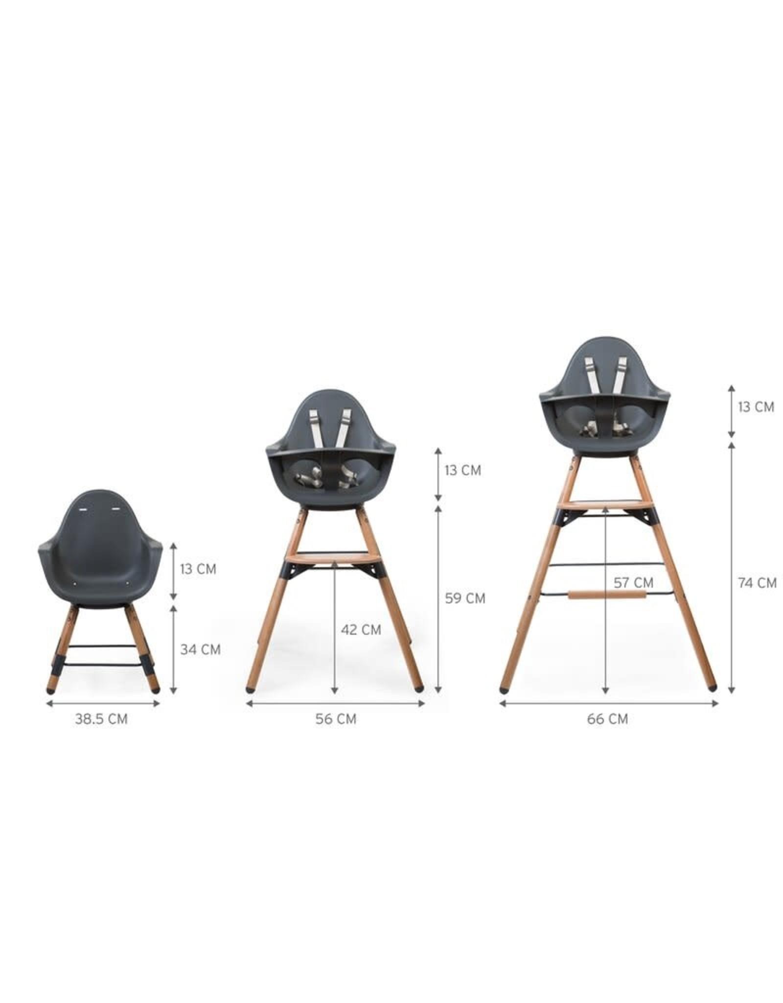 Childhome Childhome Evolu One.80° Kinderstoel - Verstelbaar In Hoogte (50-75 Cm/*90 Cm) - Naturel Antracie