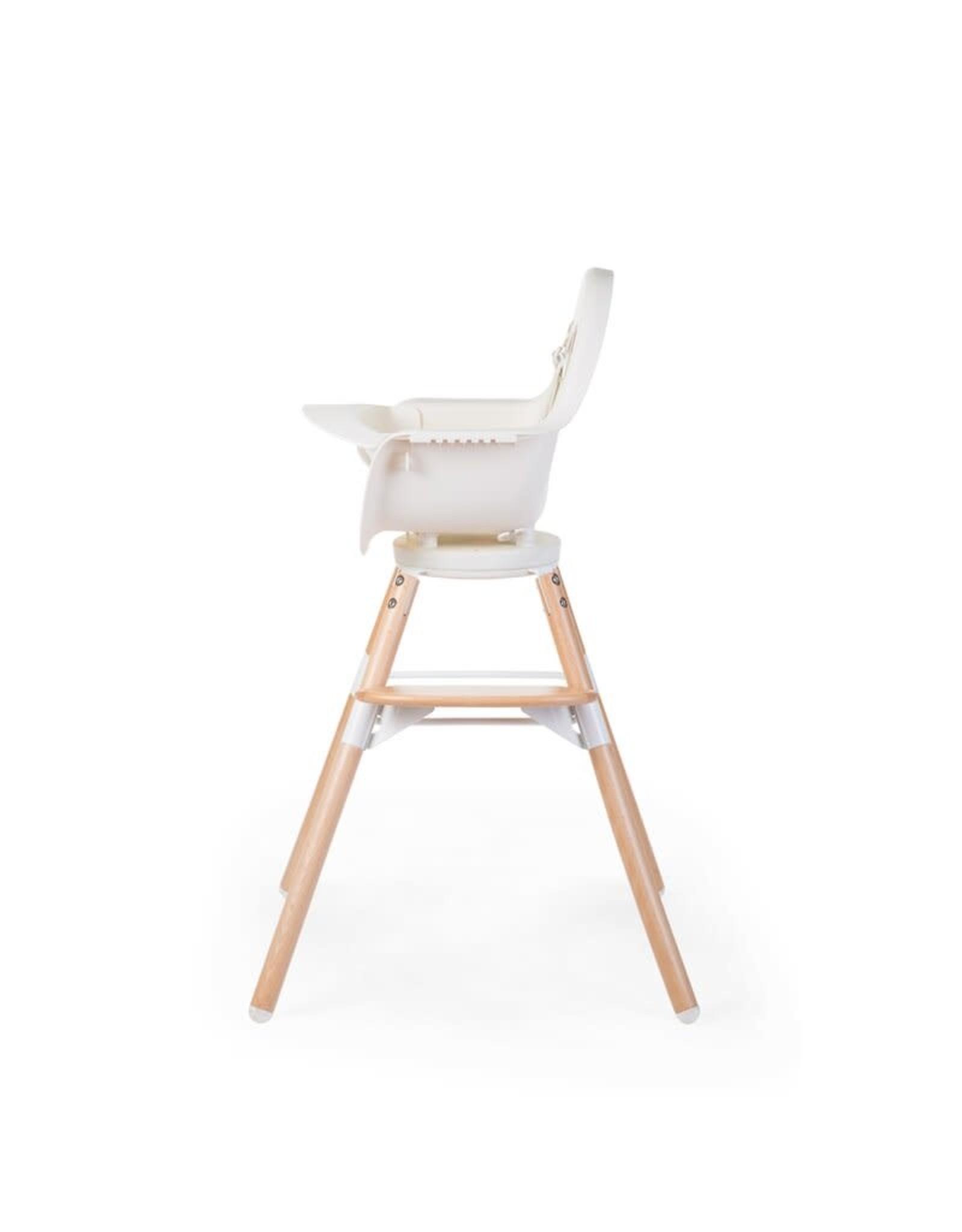 Childhome Childhome Evolu One.80° Kinderstoel - Verstelbaar In Hoogte (50-75 Cm/*90 Cm) - Naturel Wit