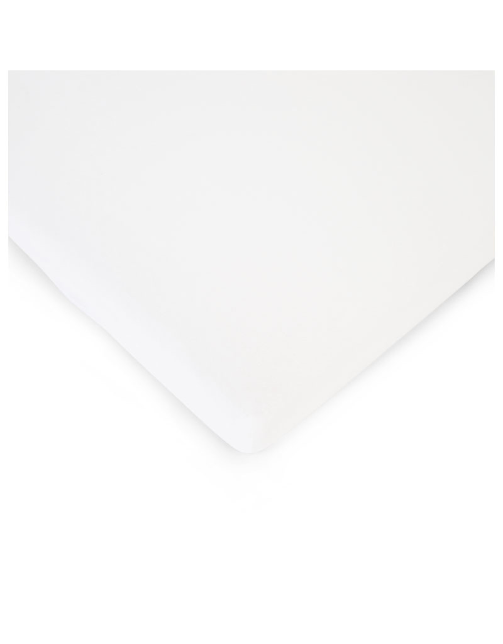 Childhome Childhome Hoeslaken Bedkant Wieg - 50x90 Cm - Biokatoen - Wit