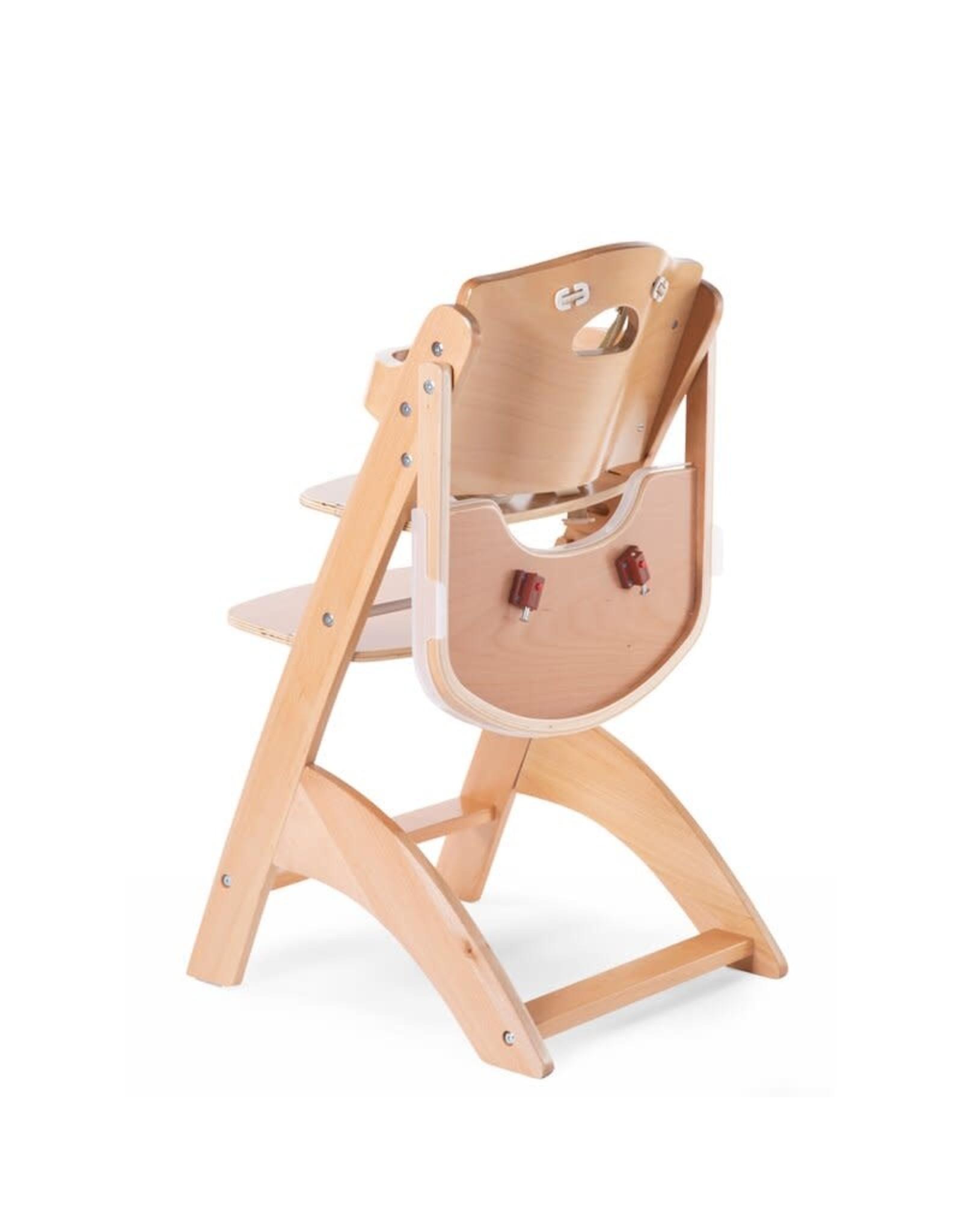 Childhome Childhome Lambda 3 Baby Kinderstoel + Eettablet - Hout - Naturel