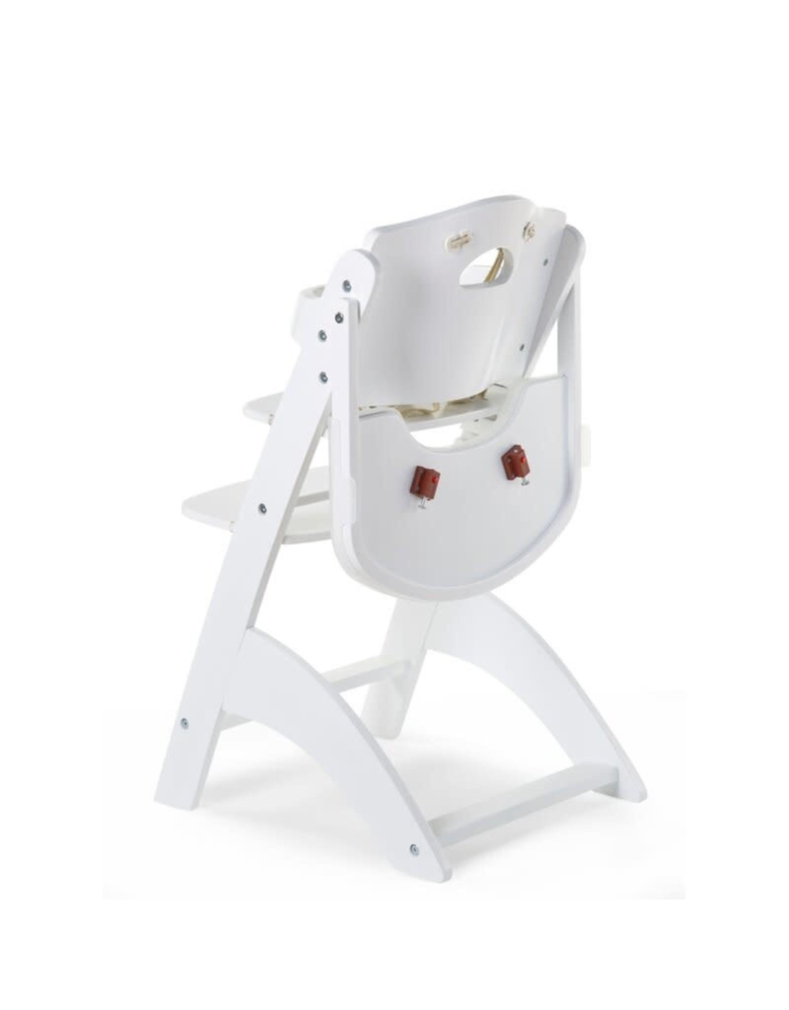 Childhome Childhome Lambda 3 Baby Kinderstoel + Eettablet - Hout - Wit