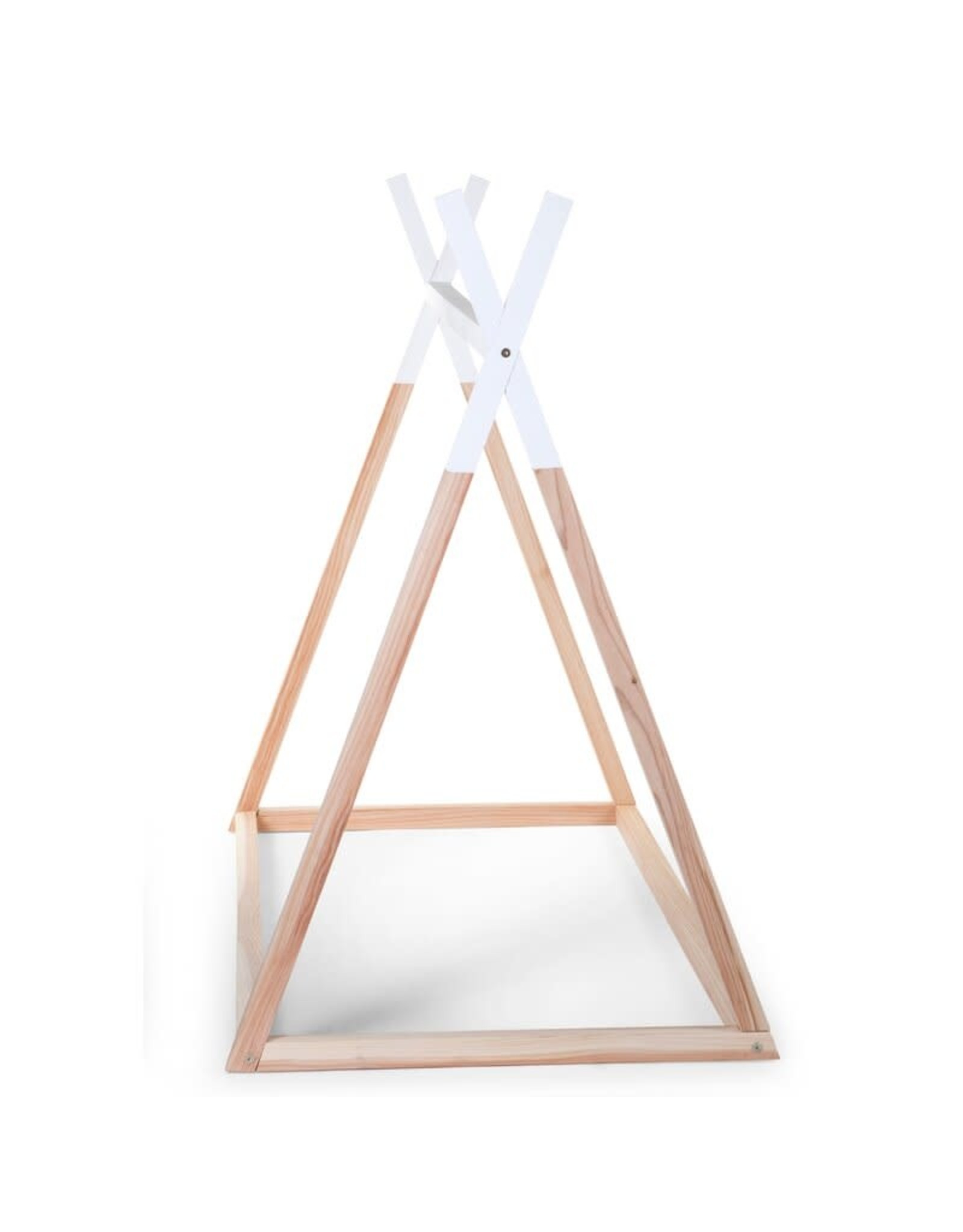 Childhome Childhome Tipi Bed - 70x140 Cm - Hout - Naturel Wit