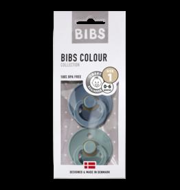 Bibs BIBS - Fopspeen Natuurrubber - Blister Petrol/ Island sea T1
