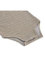 Lassig Lassig Short Sleeve Baby Body GOTS, Striped grey mélange