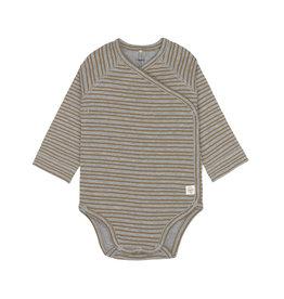 Lassig Lassig Long Sleeve Body GOTS Striped Grey Mélange