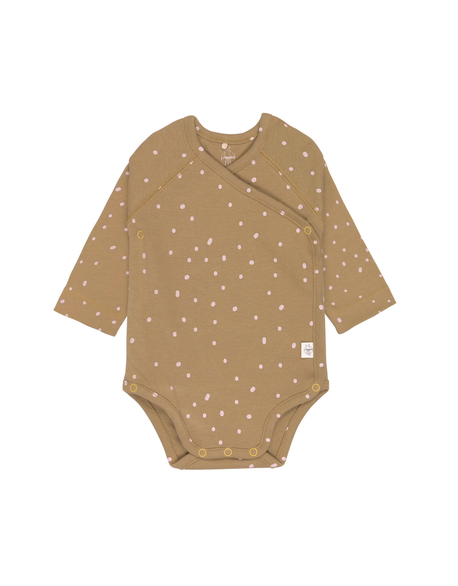 Lassig Lassig Long Sleeve Body GOTS Dots Curry